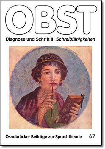 9783924110673: Diagnose und Schrift II: Schreibf�higkeiten