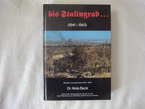 9783924170004: Bis Stalingrad-- (German Edition)