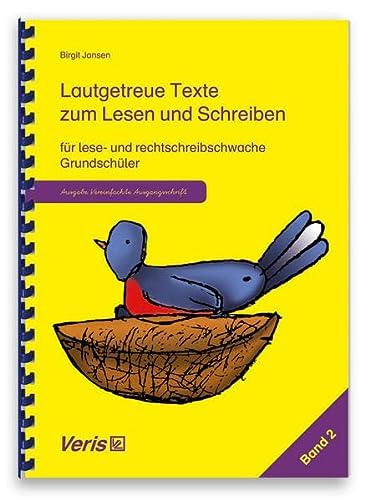 9783924173838: Lautgetreue Texte. Band 2. Vereinfachte Ausgangsschrift