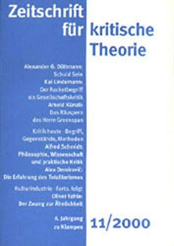 9783924245979: Zeitschrift f�r kritische Theorie 11