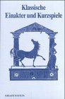 9783924322014: Klassische Einakter und Kurzspiele. - Muenchen Bd. 2., 10 Stuecke Grafenstei