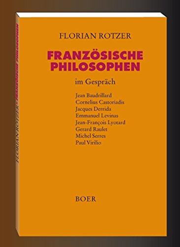 9783924963217: Französische Philosophen im Gespräch