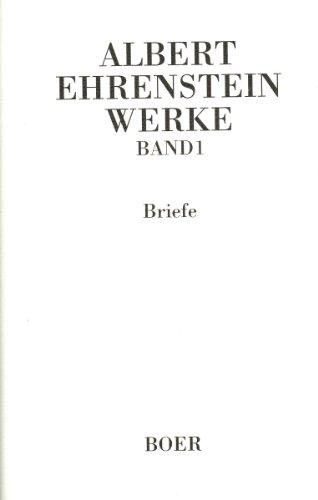 9783924963316: Werke Band 1: Briefe