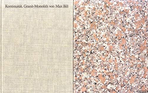 Max Bill. Kontinuität - Granit-Monolith Von Max: Bill, Max -