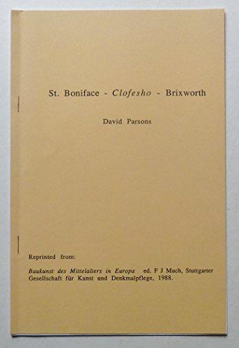 9783926168009: St. Boniface - Clofesho - Brixworth