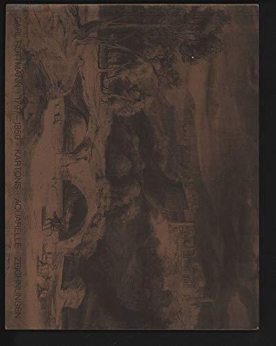 CARL ROTTMANN, 1797-1850: KARTONS, AQUARELLE, ZEICHNUNGEN (Carl: Barbara Strieder; Peter