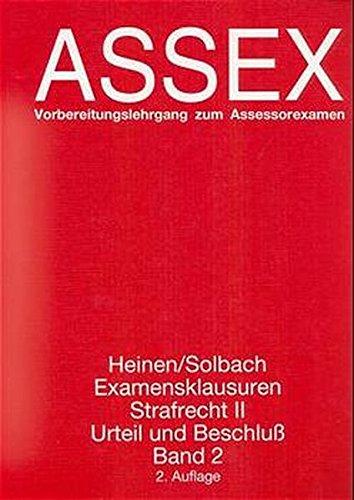 9783926702555: Examensklausuren Strafrecht II, Urteil und Beschluá