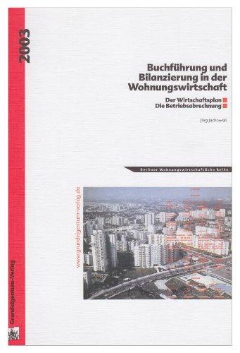 9783926773906: Buchf�hrung und Bilanzierung in der Wohnungswirtschaft