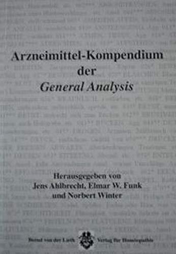9783926836298: Arzneimittelkompendium der General Analysis