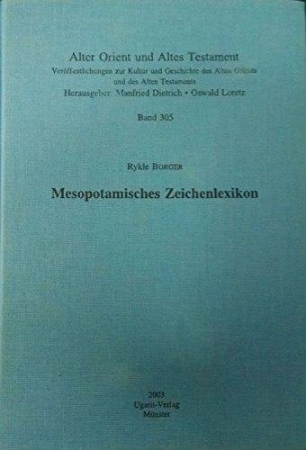 9783927120822: Mesopotamisches Zeichenlexikon (Livre en allemand)