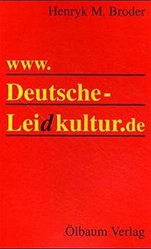 9783927217430: www. Deutsche Leidkultur.de
