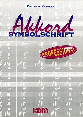 9783927503564: Akkordsymbolschrift Professional (Livre en allemand)