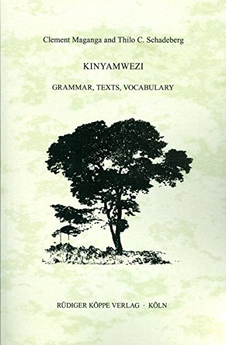 9783927620407: Kinyamwezi: Grammar, Texts, Vocabulary (East African Languages and Dialects)