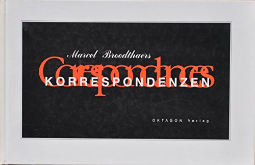 9783927789814: Marcel Broodthaers: Correspondances