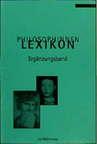 9783928089197: Philosophinnen-Lexikon Ergänzungsband