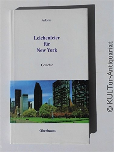 9783928254366: Leichenfeier für New York: Gedichte (Livre en allemand)