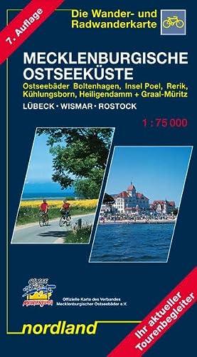 9783928397032: Mecklenburgische Ostseeküste zwischen Lübeck und Rostock 1 : 75 000. Saison 2013-2016: Ostseebäder Boltenhagen, Insel Poel, Rerik, Kühlungsborn, ... Wismar - Rostock. Wander- und Radwanderkarte