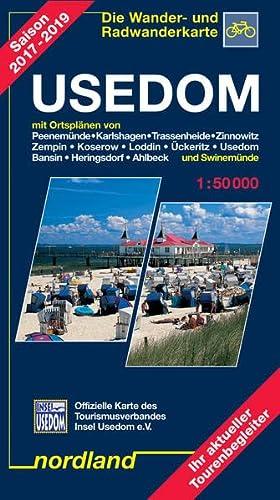 Usedom - Die Wander- und Radwanderkarte Saison 2005 - 2007 Peenemünde, Karlshagen, Trassenheide, Zinnowitz u.a.