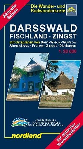 Darsswald. Fischland. Zingst 1 : 30 000. Wander- und Radwanderkarte: Mit Ortsplänen von Born, ...