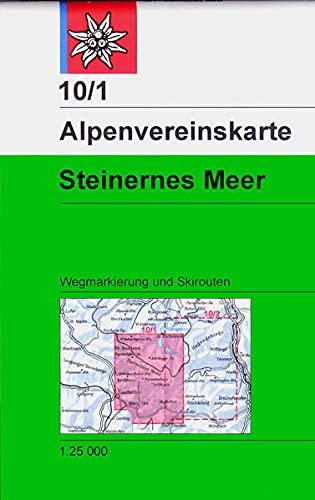 DAV Alpenvereinskarte 10/1 S Steinernes Meer 1 : 25 000 Wegmarkierungen und Skirouten : ...