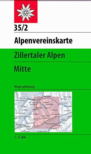 9783928777599: Zillertaler Alpen Mittleres B.
