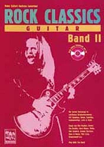 ROCK CLASSICS ' Guitar' 2. Inkl. CD | Play Along Songbook und CD. Die besten Rocksongs in spielbaren Originalversionen. Mit Tabulatur, Noten, Spieltips, Equipmenttips, Licks und Tricks. Songs von Eric Clapton, Cream, The Beatles, Gary Moore, Police, Jimi Hendrix, Guns n' Roses, Thin Lizzy, Steppenwolf u. a. Play With The Band - Kellert, Peter