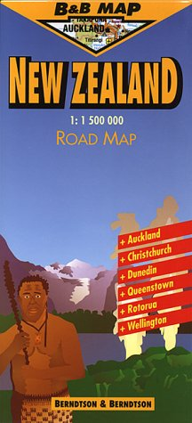 New Zealand: Scale 1:1,500,000 (B&B Road Maps): Treaty Oak