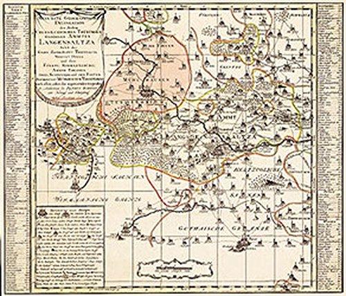Historische Karte: Amt Langensalza, Erbschaft Treffurt, Vogtei: Peter (der Jüngere)