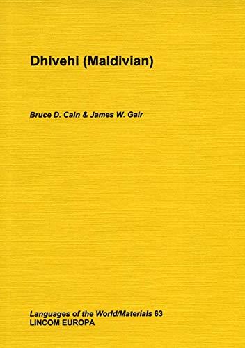 Divehi (Maldivian): Cain et al., Bruce D.; Gair, James W.