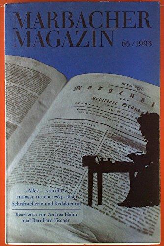 """9783929146059: """"Alles-von mir!: Therese Huber (1764-1829) : Schriftstellerin und Redakteurin (Marbacher Magazin)"""
