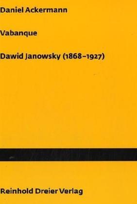 9783929376654: Vabanque, Dawid Janowsky (1868-1927)