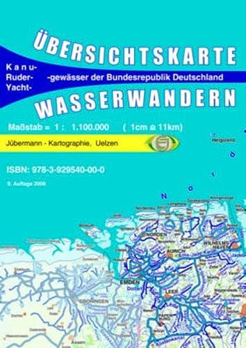 9783929540000: Ãœbersichtskarte Wasserwandern Deutschland 1 : 1 10