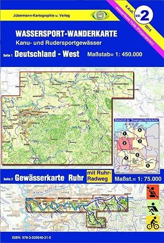 9783929540215: Wassersport-Wanderkarte 02. Deutschland West 1 : 450 000