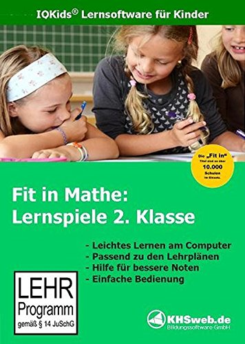 9783929548105: Fit in Mathe. Lernspiele 2. Klasse. CD-ROM für Windows 95/98/NT/Me/2000/XP