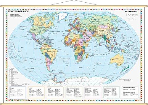 9783929627138: Staaten der Erde, politisch 1 : 60 000 000. Wandkarte Mini-Format: Laminiert, bescreib- und abwischbar, besonders reißfest, Holzleisten mit Aufhängeschnur