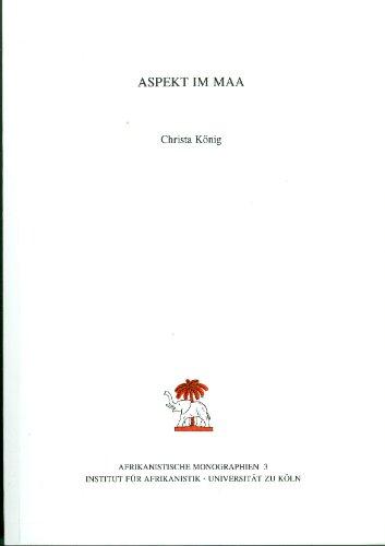 9783929777024: Aspekt im Maa (Afrikanistische Monographien, Vol. 3) (German Edition)