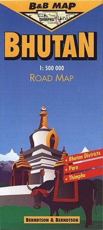 9783929811216: Bhutan (B&B Road Maps)