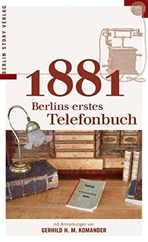 9783929829334: 1881 Berlins erstes Telefonbuch