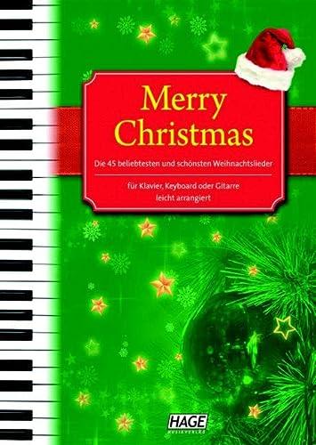 9783930159024: Merry Christmas für Klavier, Keyboard oder Gitarre: Alte und neue Weihnachtslieder