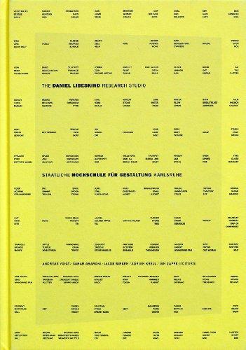 9783930194100: The Daniel Libeskind Research Studio: Staatliche Hochschule für Gestaltung, 1999 - 2003