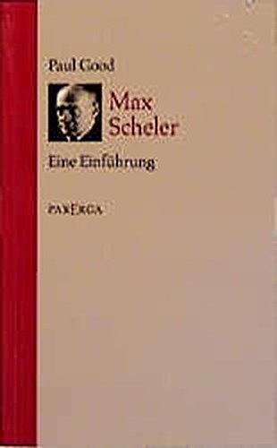 9783930450343: Max Scheler.