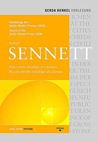 9783930454938: How I write: Sociology as Literature: Verleihung des Gerda Henkel Preises 2008