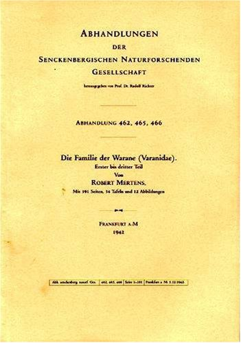 9783930612130: Die Familie Der Warane 'Varanidae' (The Family of Monitors) Volumes 462, 465, 466 (German Edition)
