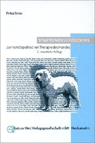 9783930706228: Symptomenverzeichnis zur Homöopathischen Therapie des Hundes.