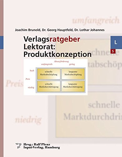 9783930961351: Verlagsratgeber Lektorat: Produktkonzeption