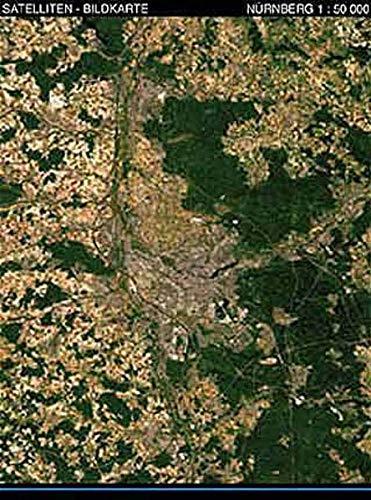 Landschaften aus dem Weltraum Nürnberg Satellitenbildkarte 1:50.000