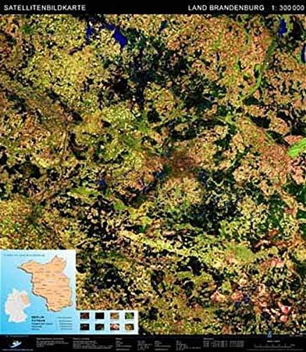 Landschaften aus dem Weltraum Brandenburg Satellitenbildkarte 1: 300.000