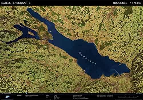 Landschaften aus dem Weltraum Bodensee Satellitenbildkarte 1: 75.000