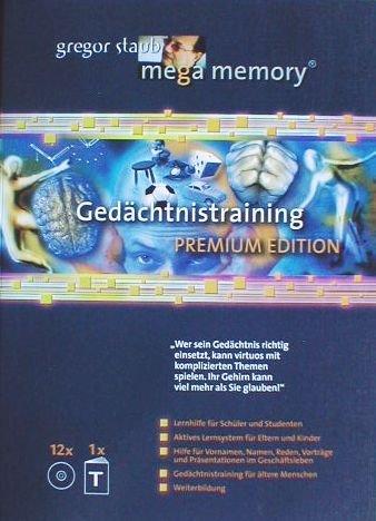 9783931084691: Mega Memory Gedächtnistraining Premium Edition - Textband plus 12 CDs