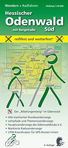 9783931273675: Hessischer Odenwald mit Bergstraße - Süd 1 : 30 000. Wandern + Radfahren: Alle markierten Rundwanderwege. Lehrpfade und Themenwanderwege. ... UTM-Koordinaten für GPS-Nutzer/-innen